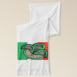アイルランドの旗のクローバーのスカーフ スカーフ