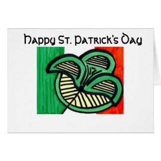 アイルランドの旗のクローバー カード