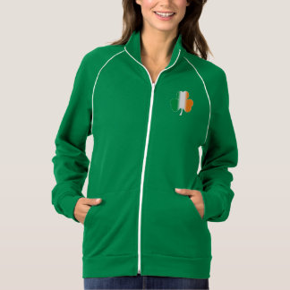 アイルランドの旗のシャムロックのフリーストラックジャケット ジャケット