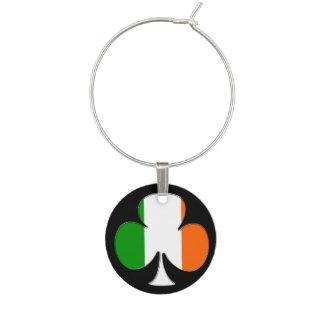アイルランドの旗のシャムロック ワインチャーム