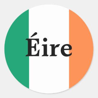 アイルランドの旗のステッカー ラウンドシール