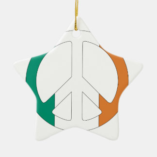 アイルランドの旗のピースマーク セラミックオーナメント