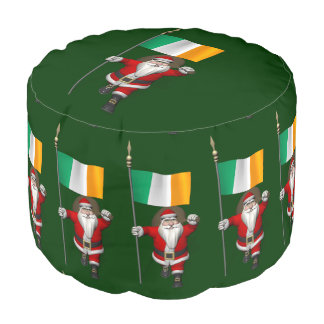 アイルランドの旗を持つサンタクロース プーフ