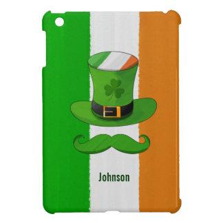 アイルランドの旗及びシャムロックの小妖精の帽子の髭 iPad MINI CASE