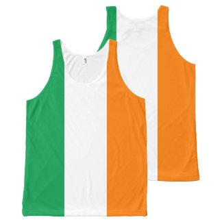アイルランドの旗 オールオーバープリントタンクトップ