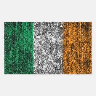 アイルランドの旗 長方形シール
