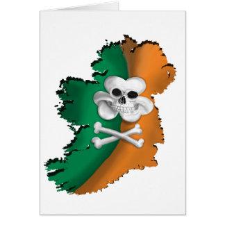 アイルランドの旗。 ST PATRICKSのアイルランドの海賊旗の地図 カード