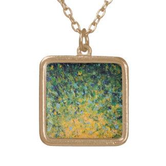 アイルランドの日の出-美しい緑の芸術のネックレス ゴールドプレートネックレス