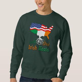 アイルランドの根、アメリカの地図のスエットシャツ スウェットシャツ