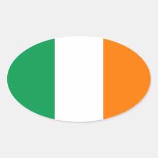 アイルランドの楕円形のステッカーの旗 楕円形シール