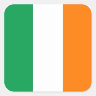 アイルランドの正方形のステッカーの旗 スクエアシール