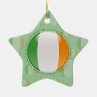 アイルランドの泡旗 セラミックオーナメント