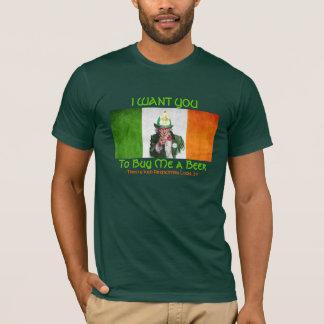 アイルランドの消防士の米国市民 Tシャツ