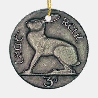 アイルランドの硬貨、メリークリスマスのオーナメント セラミックオーナメント