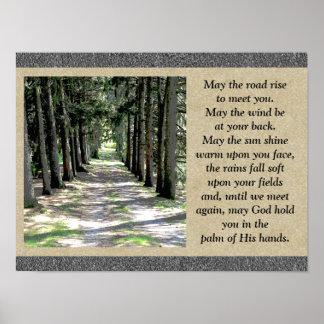 アイルランドの祈りの言葉-ポスター ポスター
