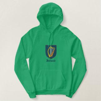 アイルランドの紋章付き外衣 刺繍入りパーカ