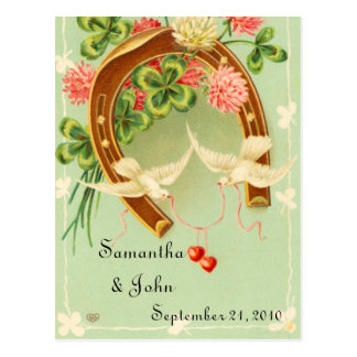 アイルランドの結婚式の保存日付 ポストカード
