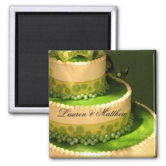 アイルランドの緑のウエディングケーキの装飾 マグネット