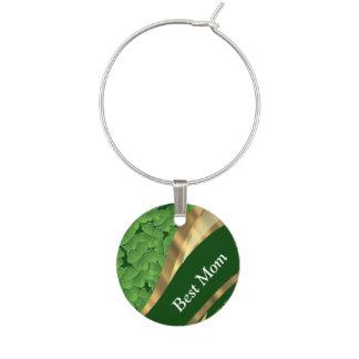 アイルランドの緑のシャムロックのベストのお母さん ワインチャーム