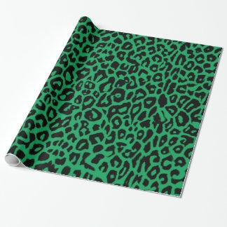 アイルランドの緑のヒョウのプリントの包装紙 ラッピングペーパー