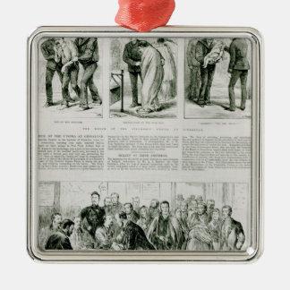 アイルランドの苦脳のレリーフ、浮き彫り メタルオーナメント