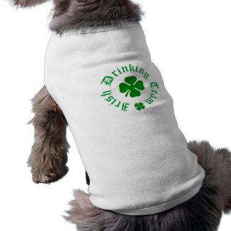 アイルランドの飲むチーム小犬のTシャツ ペット服