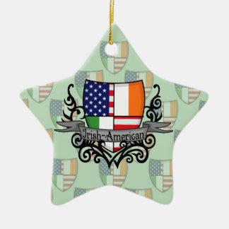 アイルランドアメリカの盾の旗 セラミックオーナメント