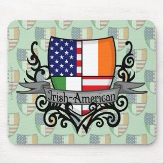 アイルランドアメリカの盾の旗 マウスパッド