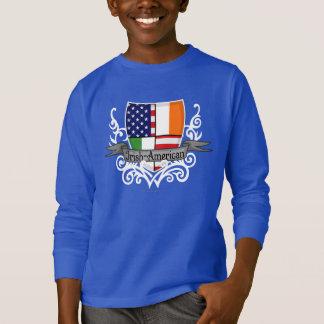 アイルランドアメリカの盾の旗 Tシャツ
