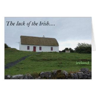 アイルランドカードのアイルランド人の運 カード