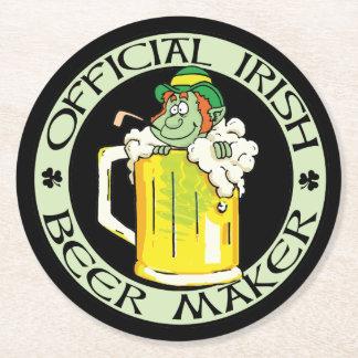 アイルランドビールメーカーの黒 ラウンドペーパーコースター