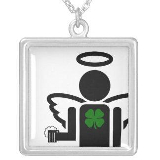 アイルランドビール天使 シルバープレートネックレス