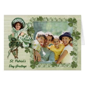 アイルランド人のばら色の写真の挨拶 カード