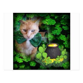 アイルランド人のクロウド猫 ポストカード