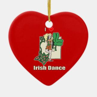 アイルランド人のダンスのハート セラミックオーナメント