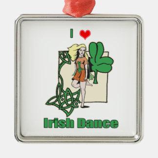 アイルランド人のダンスのハート メタルオーナメント