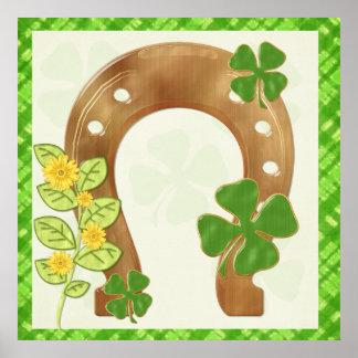アイルランド人のチャームのお洒落な民芸のプリント ポスター