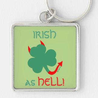 アイルランド人の悪魔のよういシャムロックの赤い角の尾 キーホルダー
