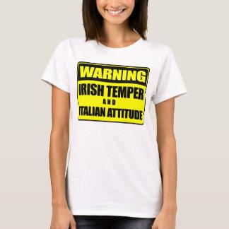 アイルランド人の気性のイタリアンな態度のTシャツ Tシャツ