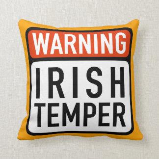 アイルランド人の気性の警告標識の装飾用クッション クッション