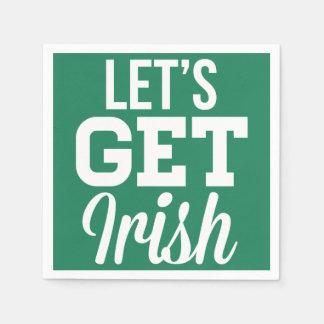 アイルランド人のSt patricks dayのナプキンを得るために割り当てます スタンダードカクテルナプキン
