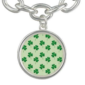 アイルランド人3の葉のクローバーパターン ブレスレット