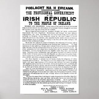 アイルランド共和国のイースター上昇の布告 ポスター