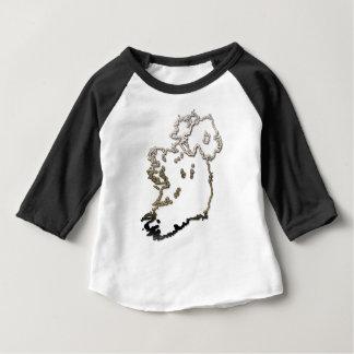 アイルランド地図 ベビーTシャツ