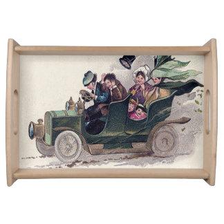 アイルランド家族の緑車 トレー