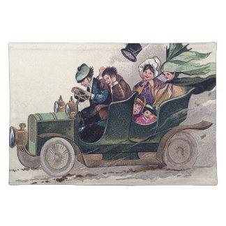アイルランド家族の緑車 ランチョンマット