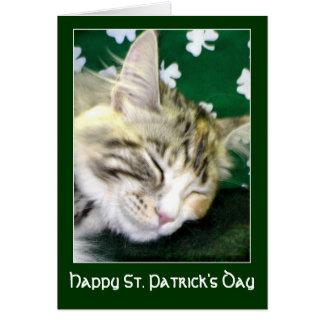 アイルランド猫によってはセントパトリックの日が夢を見ます カード