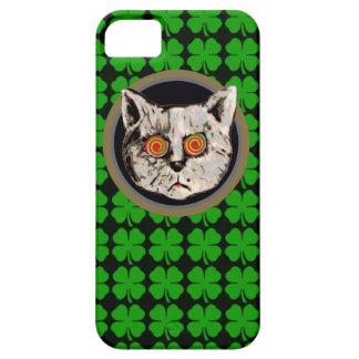アイルランド猫-葉のクローバー iPhone SE/5/5s ケース