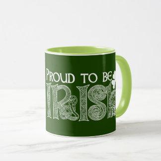 アイルランド語があること誇りを持ったSt patricks dayのケルト結び目模様 マグカップ