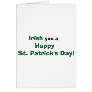 アイルランド語幸せなセントパトリックの日の挨拶状 カード